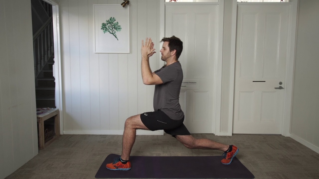 Active lunge with foundation pose